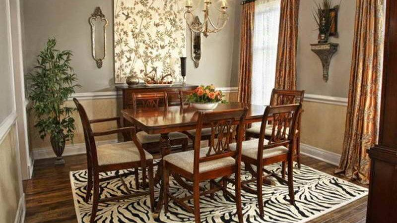 Indoor Formal Dining Room Decorating Ideas Carpet