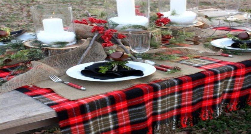 Indoor Outdoor Furniture Plaid Table Setting Ideas