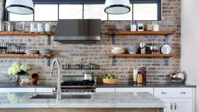 Industrial Kitchen Open Shelving Decoist