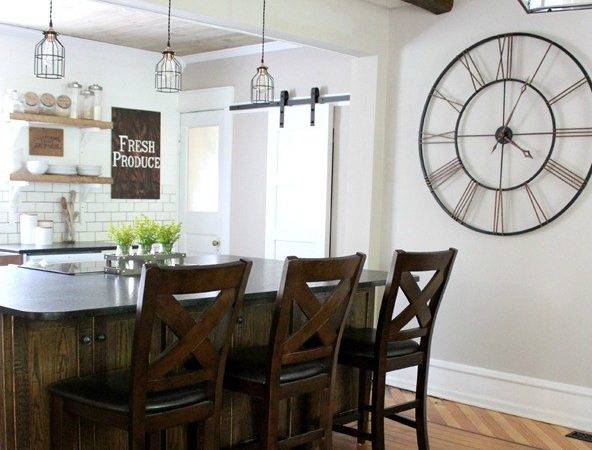 Industrial Pendants Farmhouse Kitchen Makeover Blog
