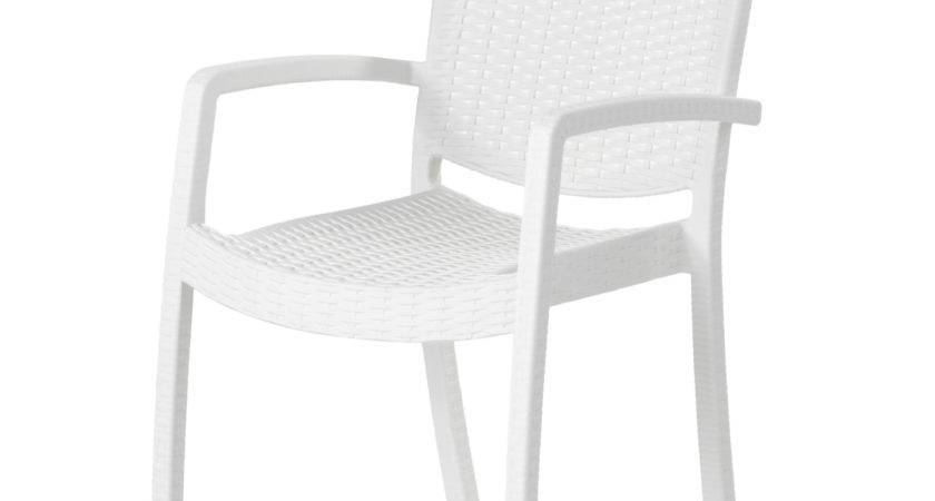 Innamo Chair Armrests Outdoor White Ikea