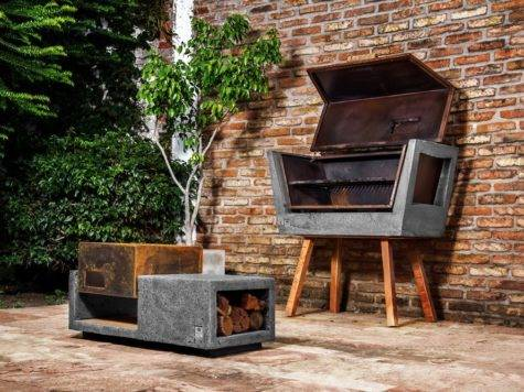 Innovative Barbecue Experience Concrete Batea Outdoor
