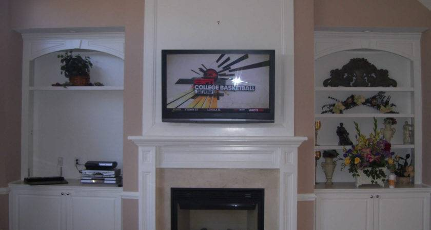 Installed Lcd Over Gas Fireplace Fireplaces