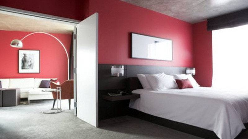 Integrating Red Black Your Bedroom