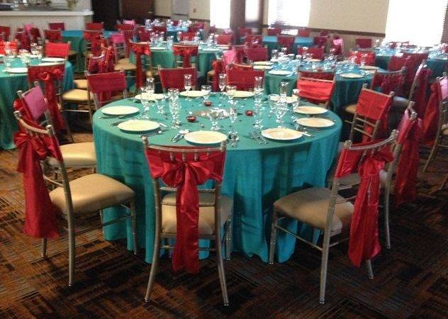 Interesting Red Turquoise Wedding Decorations