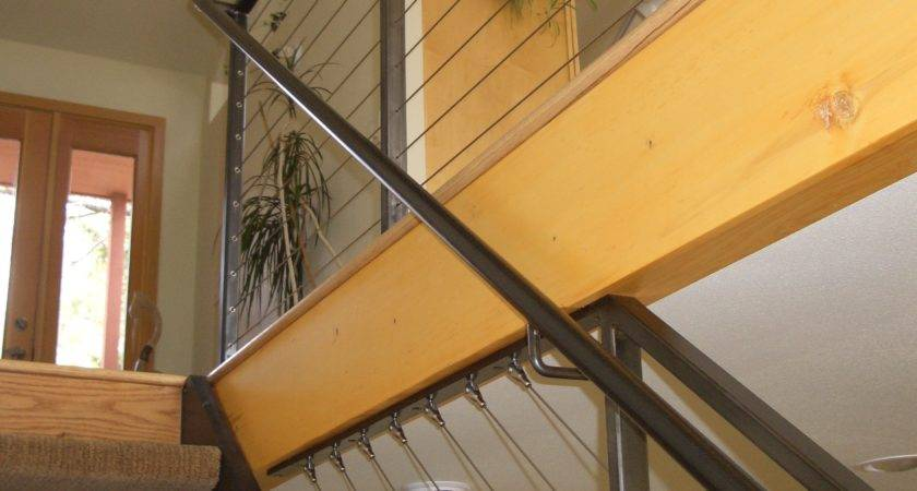 Interior Cable Railing Continuous Stair Hand Rail