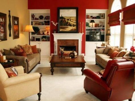 Interior Colors Combinations Beige Red Grey Home