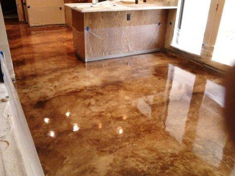 Interior Concrete Floor Ideas Traditional Dallas