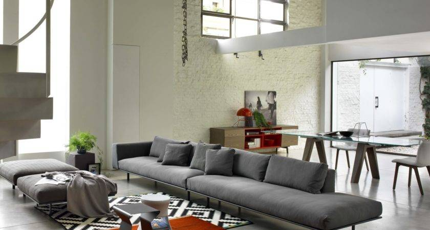 Interior Design Art Nouveau Modern Sofa Grey