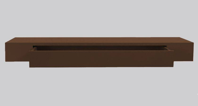 Interior Tiers Wood Floating Shelves Drawers