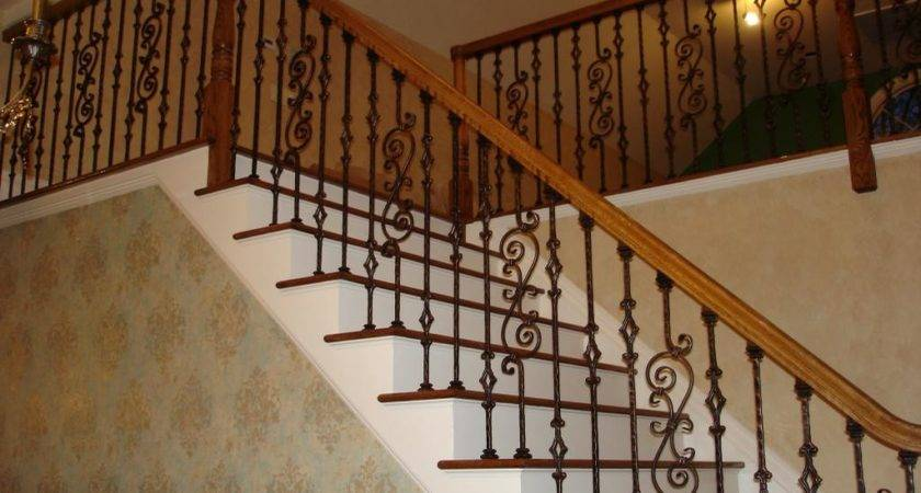 Iron Stair Railing Home Design Larizza