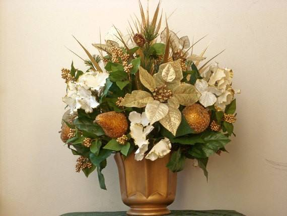 Items Similar Christmas Holiday Centerpiece Gold White