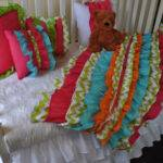Items Similar Multi Colored Ruffled Crib Bedding