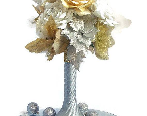 Items Similar Silver Gold Table Centerpiece