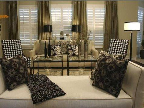 Joy Decor Decorate Beige Sofa Black White