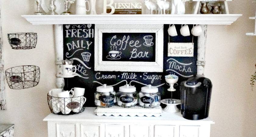 Junk Chic Cottage New Chalkboard Coffee Bar
