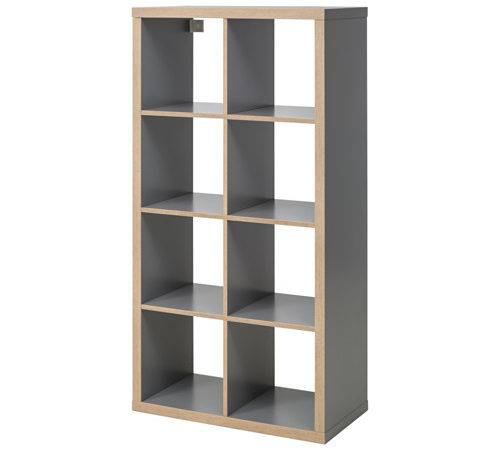 Kallax Shelving Unit Grey Wood Effect Ikea