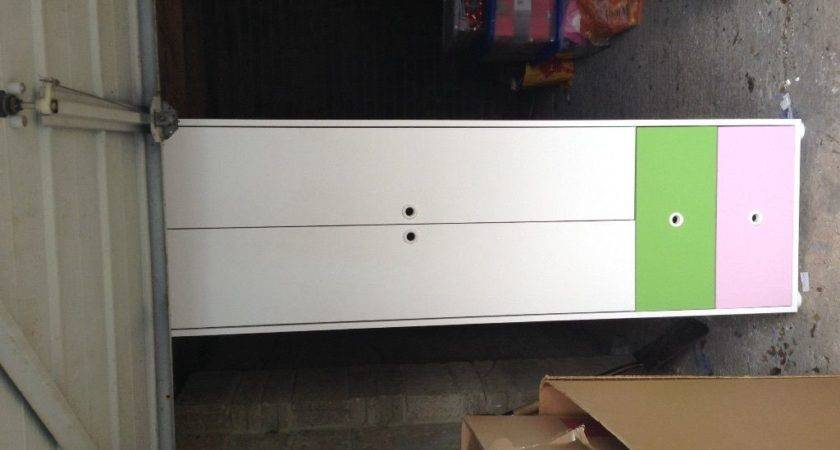 Kids White Pink Green Wardrobe Homebase Hygena