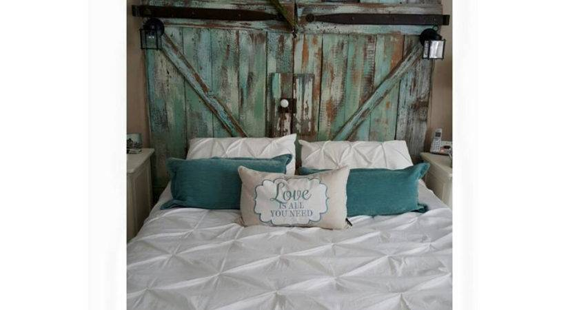 King Barn Door Headboard Beaterstreet Etsy