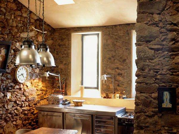 22 Cool Kitchen Stone Wall Little Big Adventure