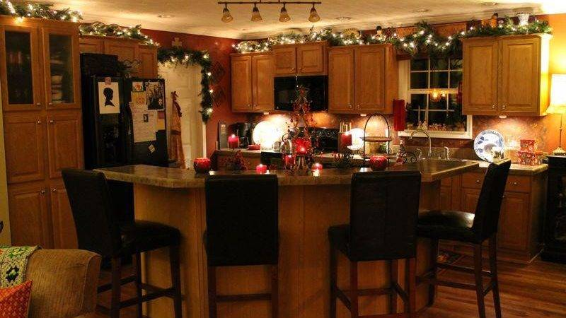 Kitchen Island Decor Ideas Christmas Decorations