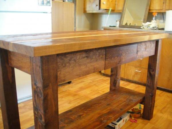 Kitchen Island Reclaimed Wood Yourself Home