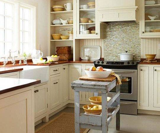 Kitchen Islands Small Spaces Wood Table