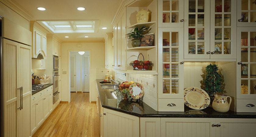 Kitchen Off White Country Style Galley