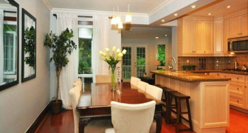 Kitchen Open Dining Room Living