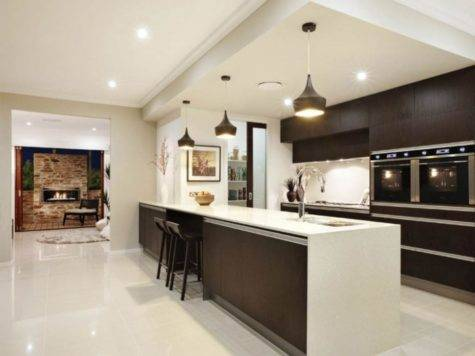 Kitchen Open Galley Ideas Tuscany Maple Cabinets