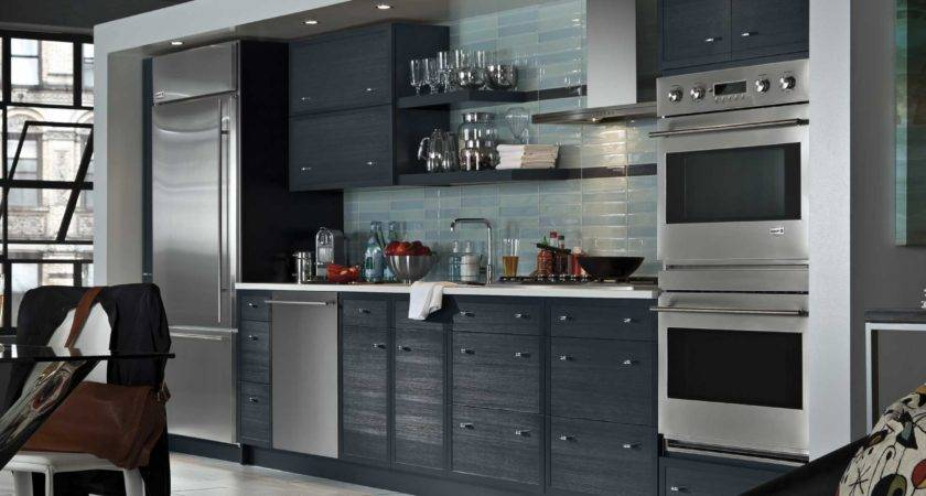 Kitchen Style Gray Cabinets Single Wall One Galley
