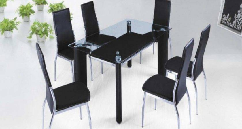 Kitchen Table Six Chairs Glass Dining Room Tables