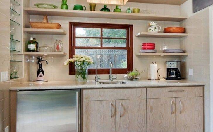 Kitchens Open Shelving Ideas Cottage