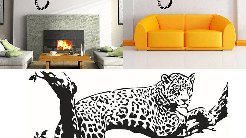 Large Leopard Tiger Art Room Home Removable Decor Wall