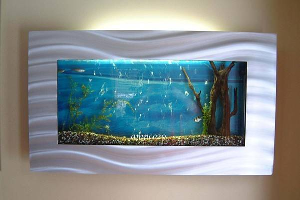 Large Plasma Wall Mount Fish Tank Aquarium Hanging Art Ebay