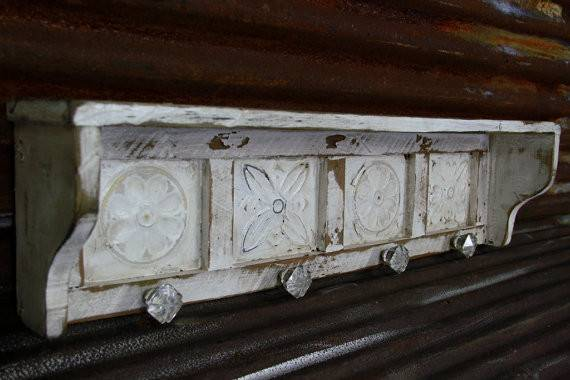 Large Primitive Wall Shelf French Country Antique