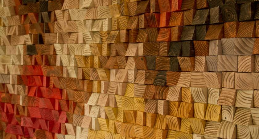 Large Rustic Wood Wall Art Sculpture Abstract