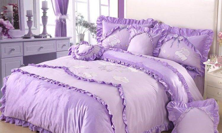 Lavender White Bedding Sets Pink Princess