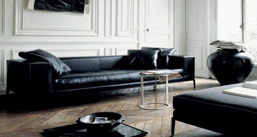 Leather Furniture Ideas Living Rooms Black