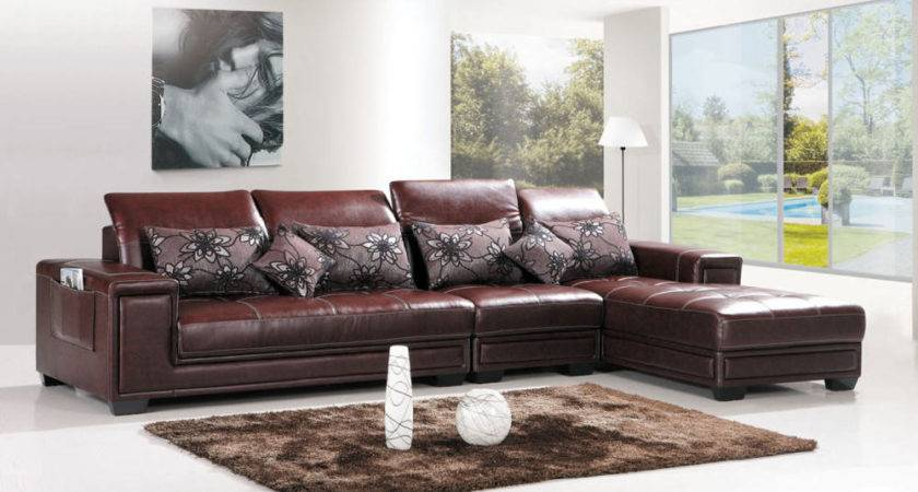 Leather Shape Sofa Best Brown Shaped Sofas