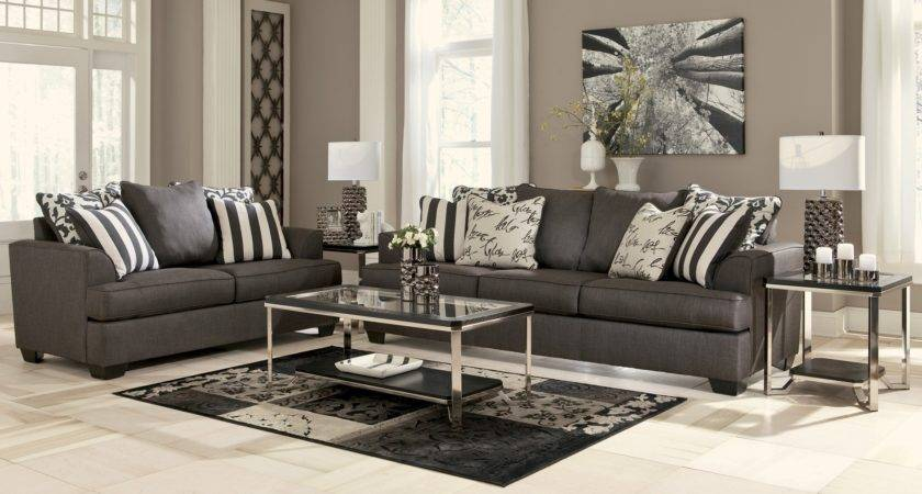 Levon Charcoal Living Room Set Ashley