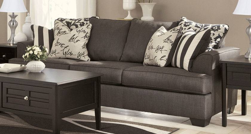 Levon Charcoal Sofa Set Evansville Overstock Warehouse