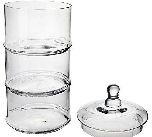 Lidded Tier Stackable Clear Glass Candy Dishes Cookie