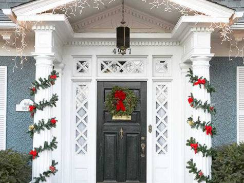 Life Love Front Door Holiday Decor