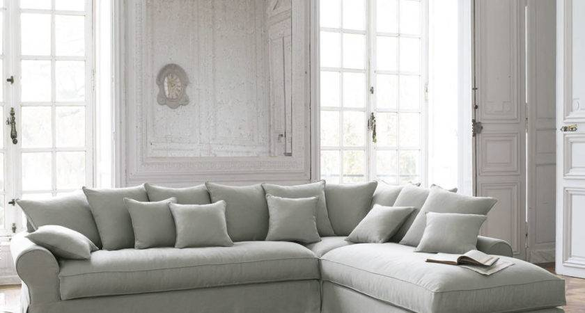 Light Gray Couch Brown Walls
