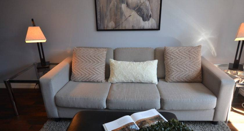 Light Grey Fabric Couch Matching Chair Monarkey