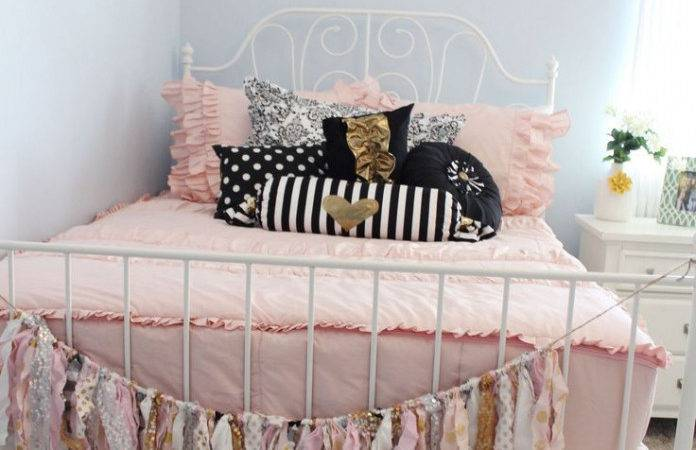 Light Pink Gold Bedroom Cheap Makeover Ideas