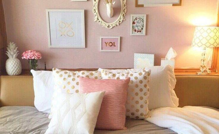 Light Pink Gold Bedroom Open Innovatio