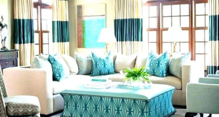 Light Teal Living Room Accent Wall