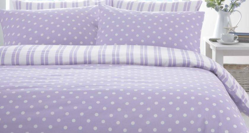 Lilac White Polka Dot Spot Discount Bedding Sets Bed
